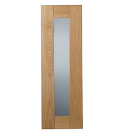 Cooke & Lewis Chesterton Solid Oak Tall Glazed