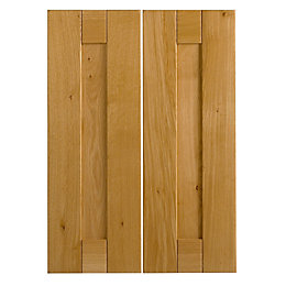 Cooke & Lewis Chesterton Solid Oak Corner Wall