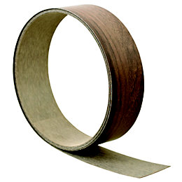 B&Q Walnut Effect Worktop Edging Tape (L)3000mm