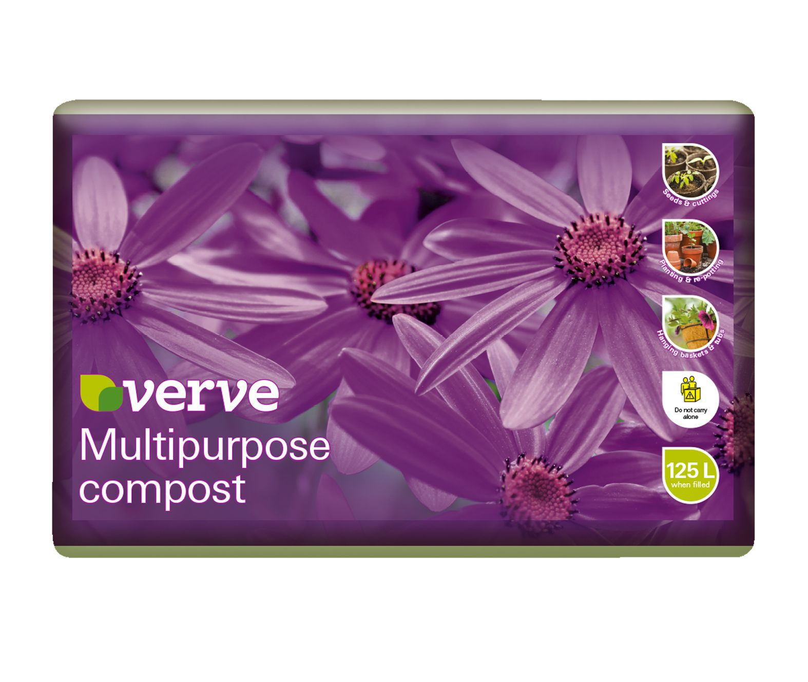 Verve Multipurpose Compost 125l Departments Diy At B Amp Q