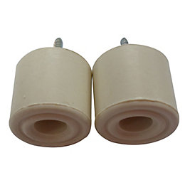 B&Q Rubber Door Stop, Pack of 2