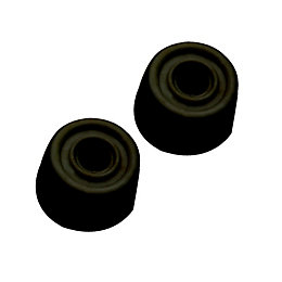 B&Q Rubber Black Door Stop, Pack of 2