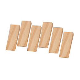 B&Q Wood Door Wedge, Pack of 6