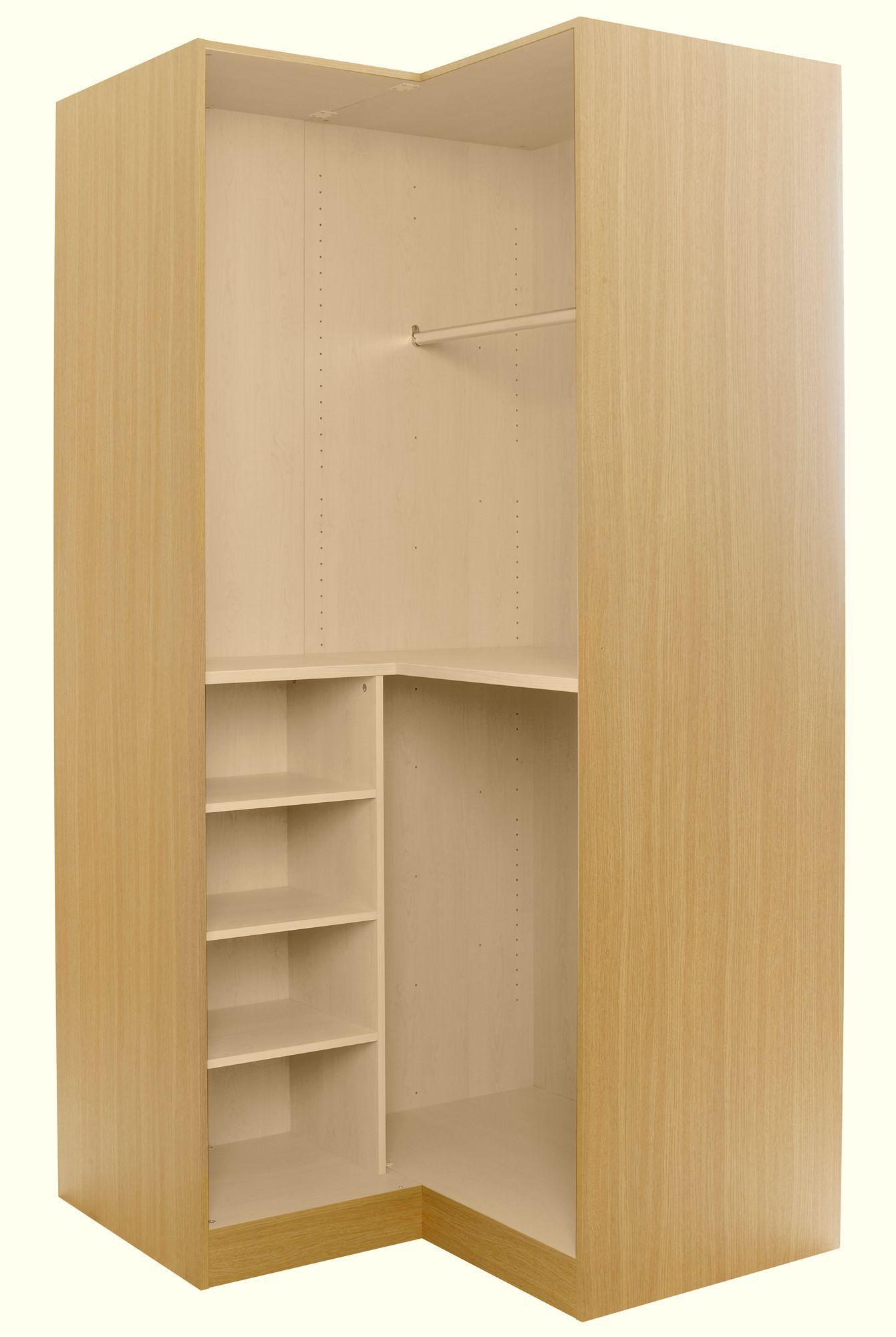 Oak Effect Corner Wardrobe Carcass H 2112mm W 1060mm Departments Diy At B Q