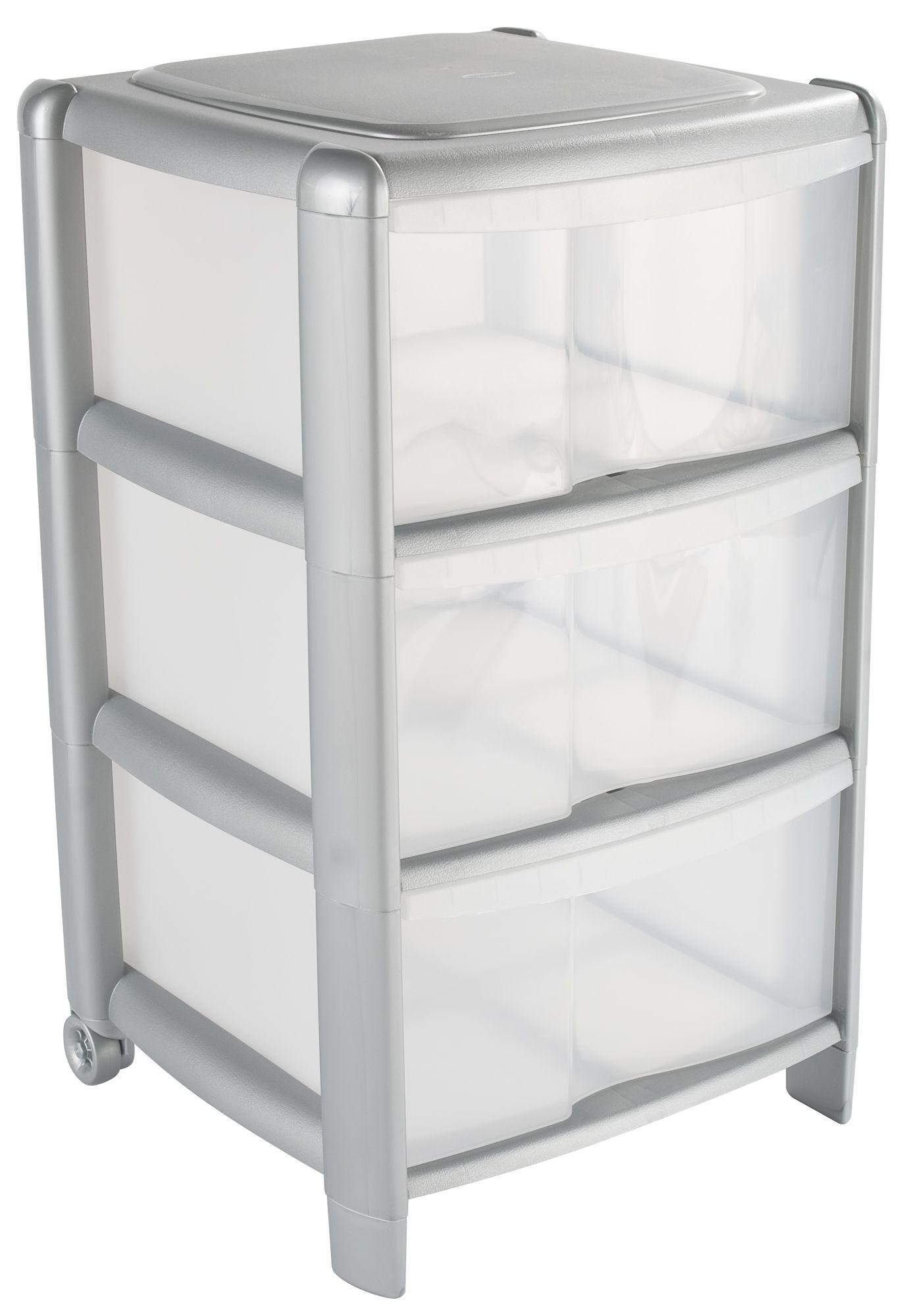 B&q Clear Plastic Drawer Tower Unit