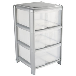 B&Q Clear Plastic Drawer Tower Unit