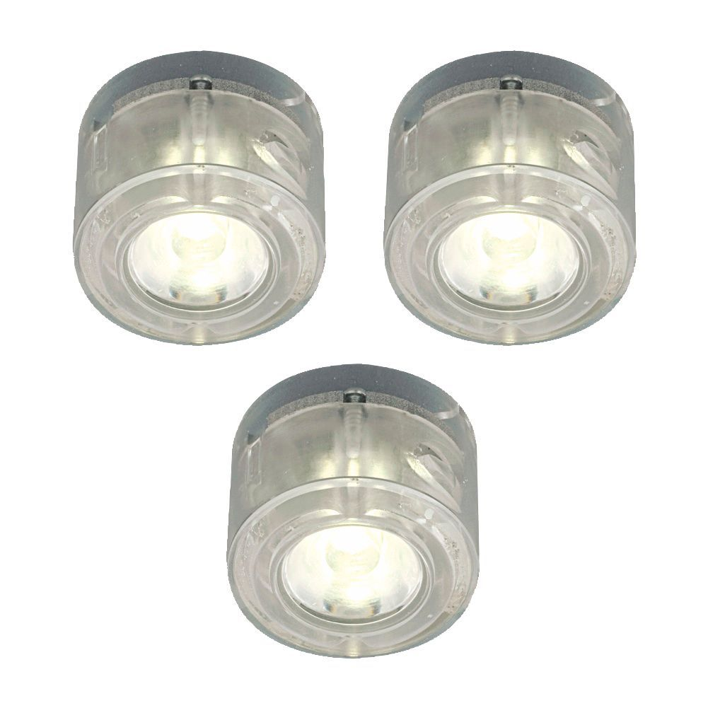 plug in cabinet lighting. bu0026q select plugin led cabinet light kit 1w pack of 3 departments diy at plug in lighting