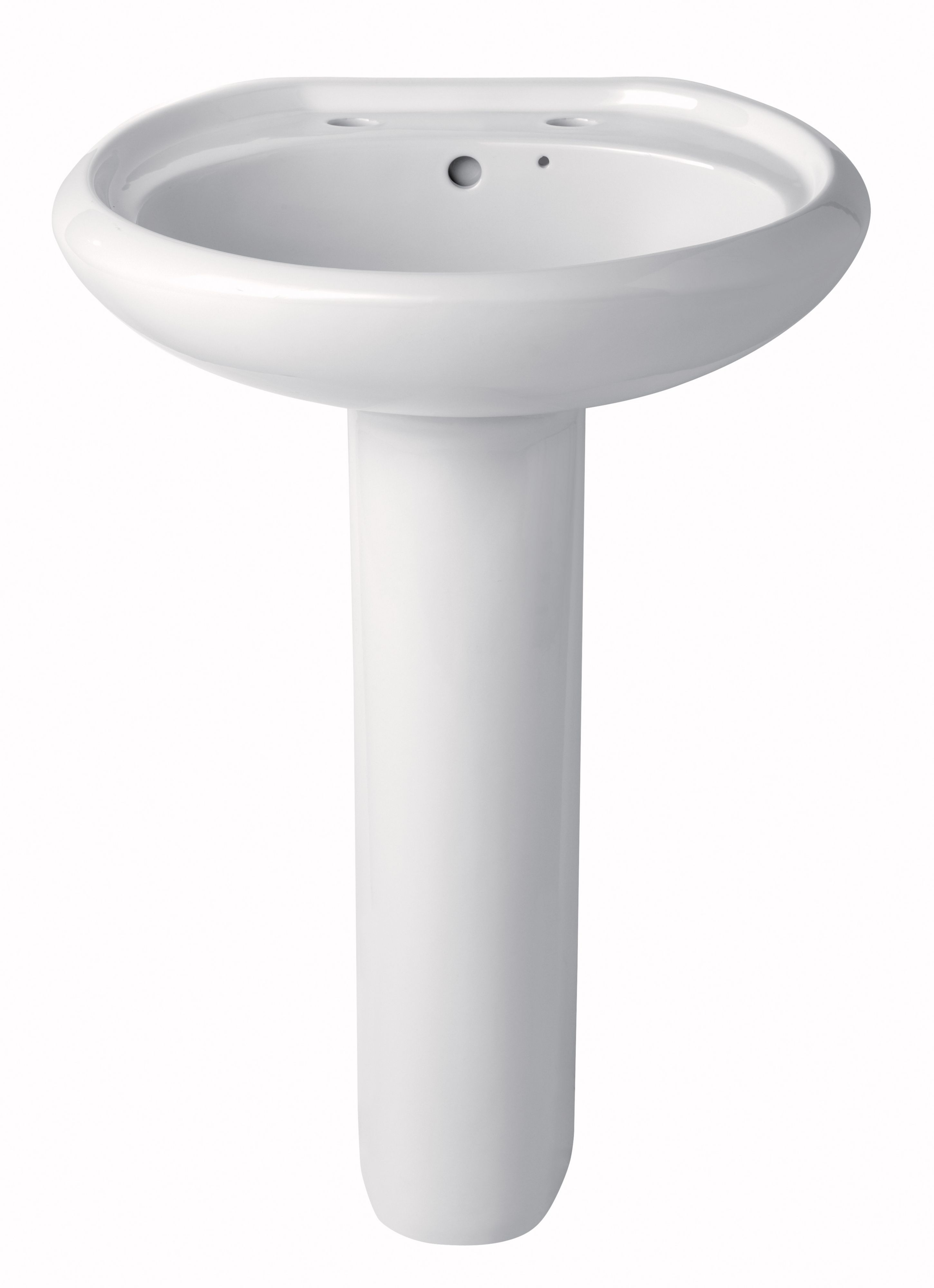Bathroom Sinks B&Q Ireland plumbsure newbury full pedestal basin | departments | diy at b&q