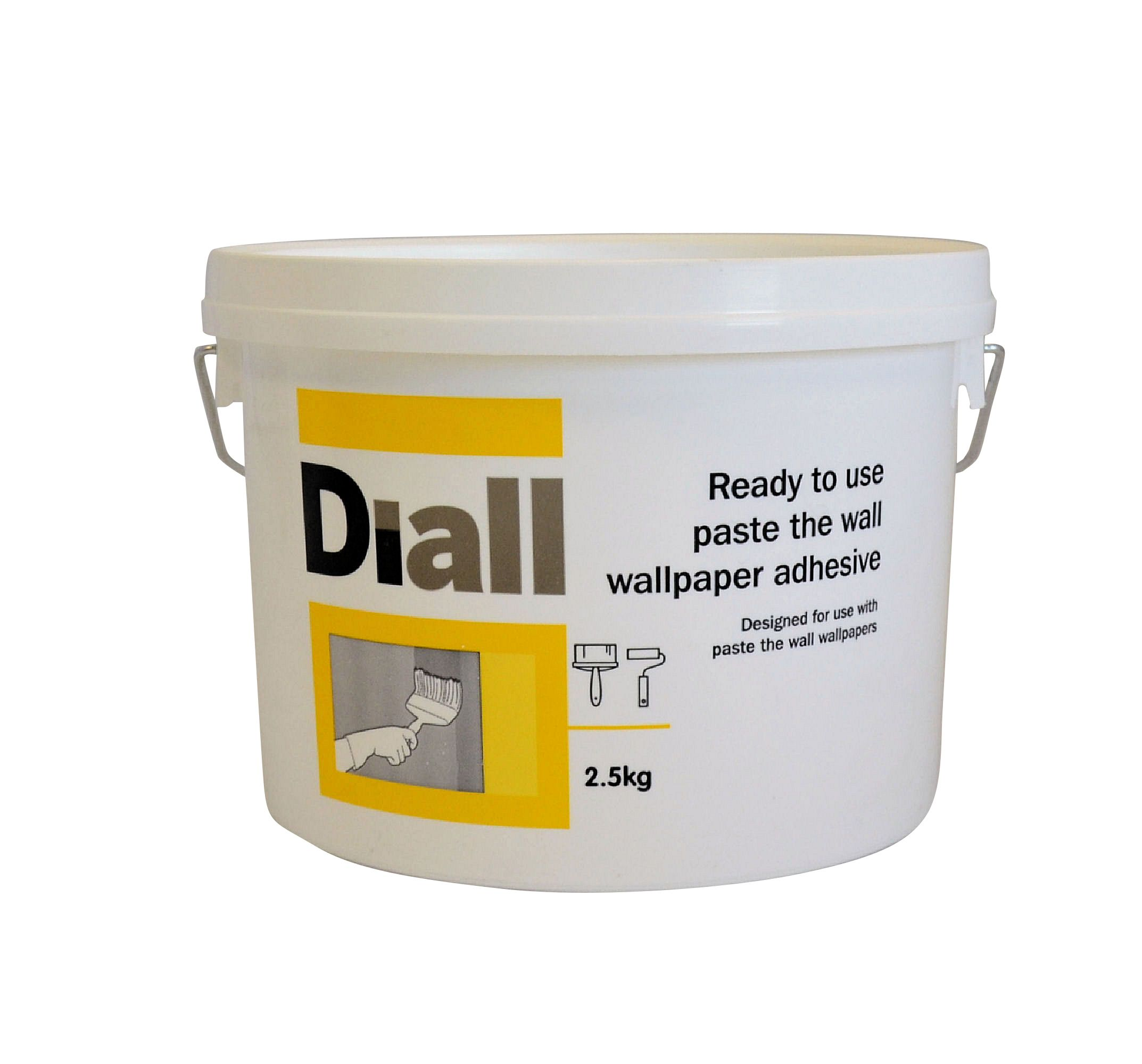 Diall paste the wall ready to use wallpaper adhesive for Pre adhesive wallpaper