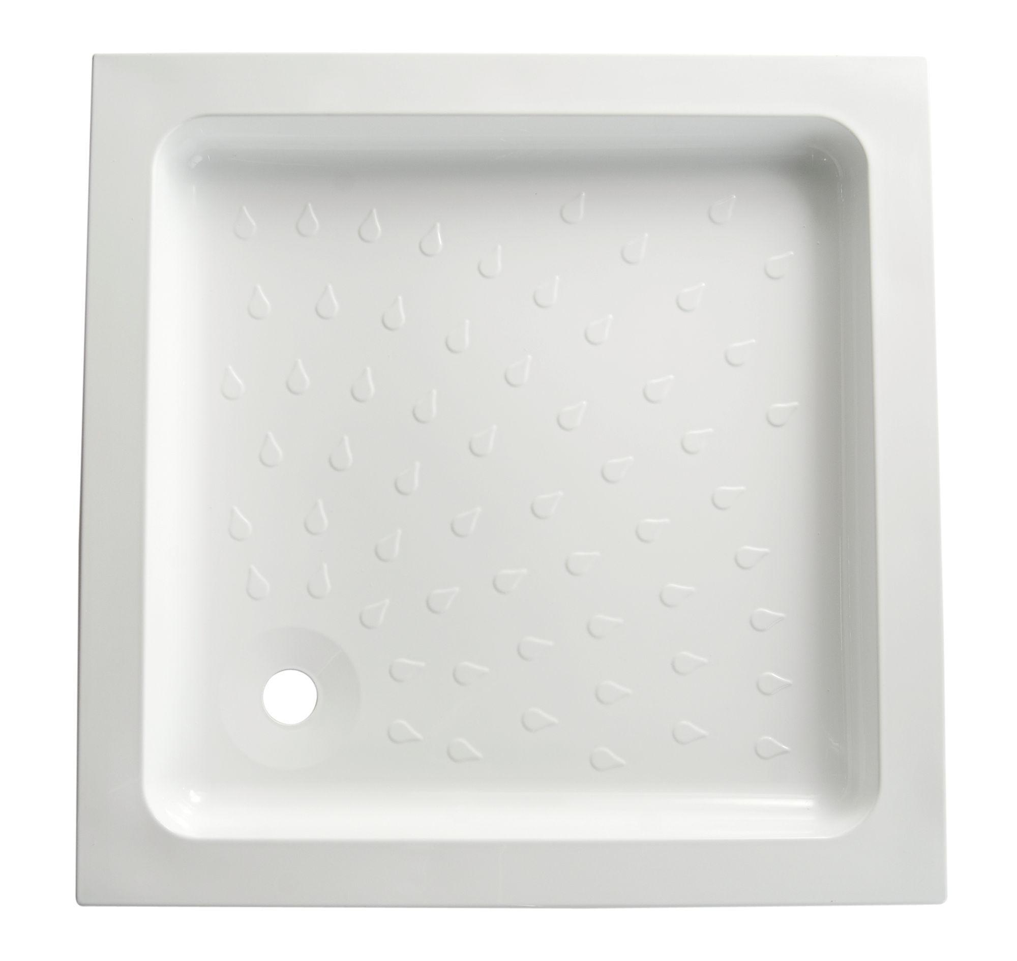 Beautiful Bu0026Q High Wall Square Shower Tray (L)800mm (W)800mm (D)95mm   Departments    DIY At Bu0026Q