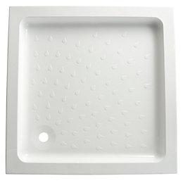 B&Q High Wall Square Shower Tray (L)900mm (W)900mm