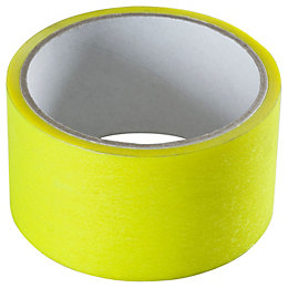 B&Q Low Tack Yellow Masking Tape (L)25m (W)5mm