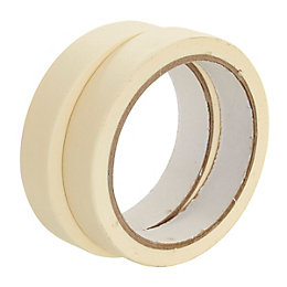 B&Q Masking Tape (L)25m (W)19mm, Pack of 2