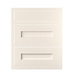 Cooke & Lewis Carisbrooke Ivory Framed Drawer Front