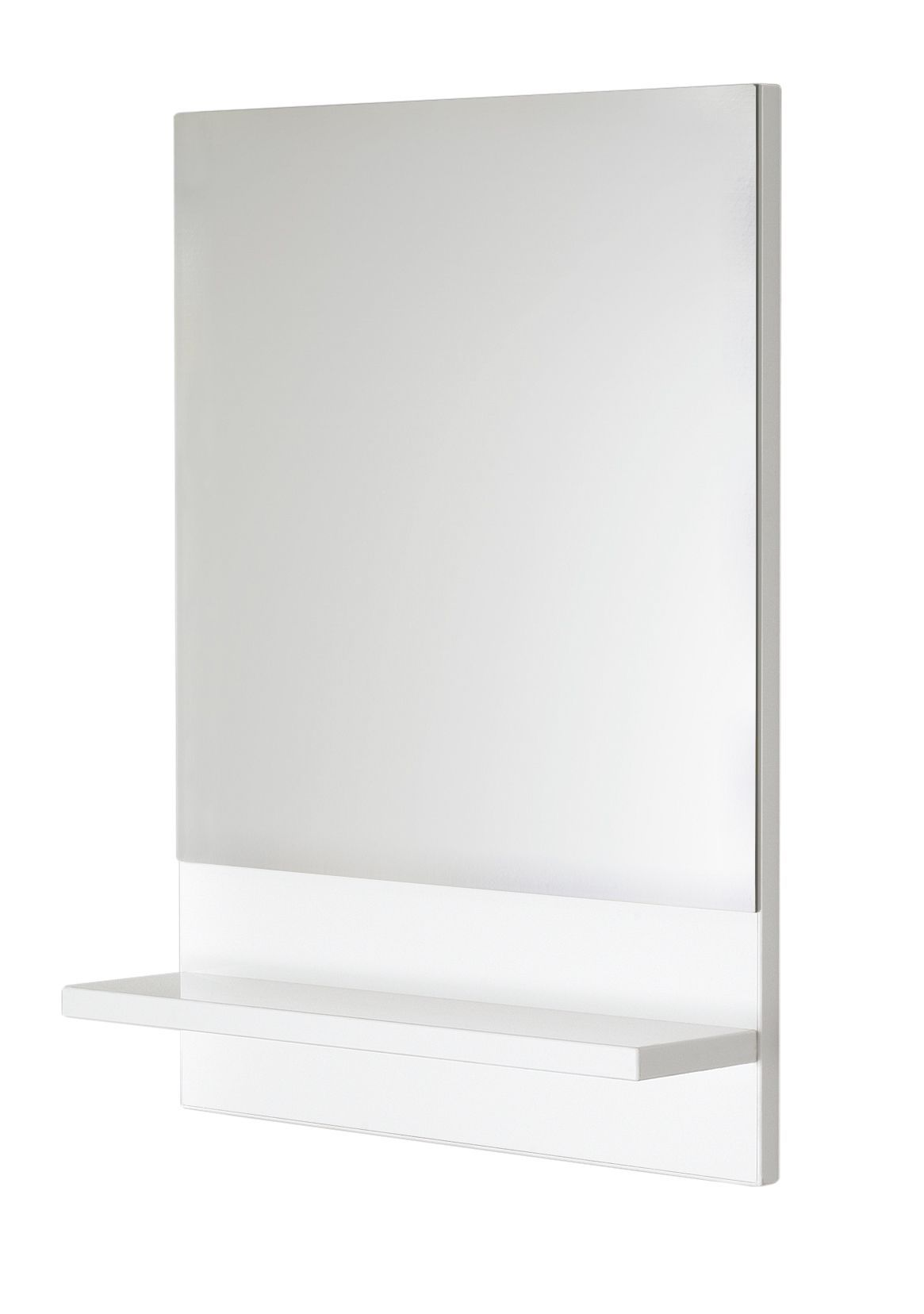 Cooke and lewis bathroom mirrors - Cooke Lewis Copenhagen Rectangular Wall Mirror With Shelf W 450mm H 600mm Departments Diy At B Q