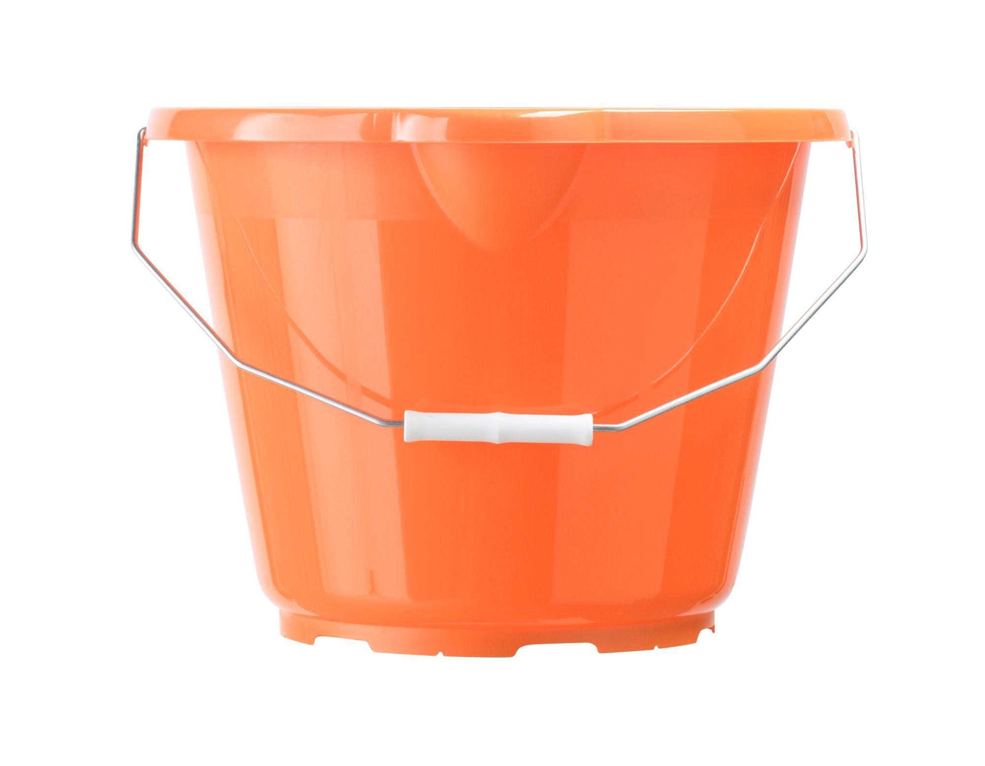 B Amp Q Orange Plastic 12000 Ml Bucket Departments Diy At B Amp Q