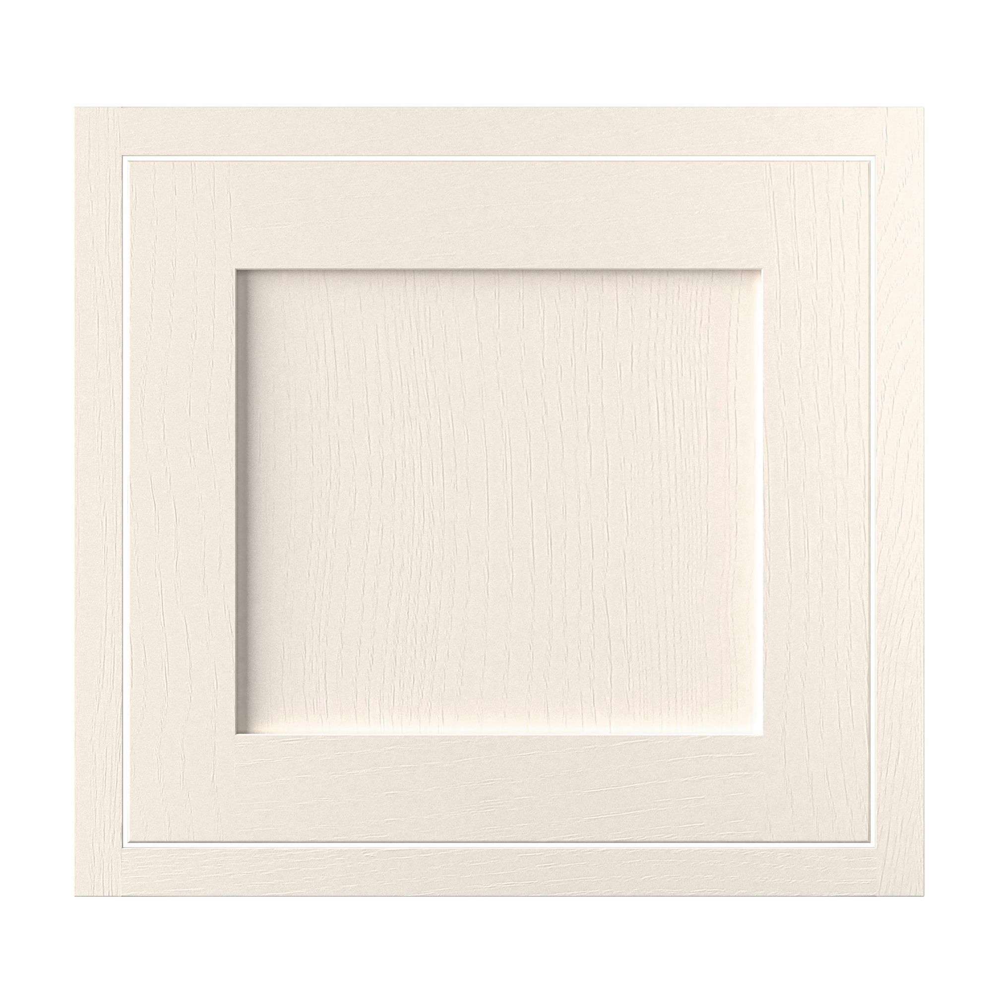 Cooke & Lewis Carisbrooke Ivory Framed Fixed Frame Semi-integrated Appliance Door (w)600mm