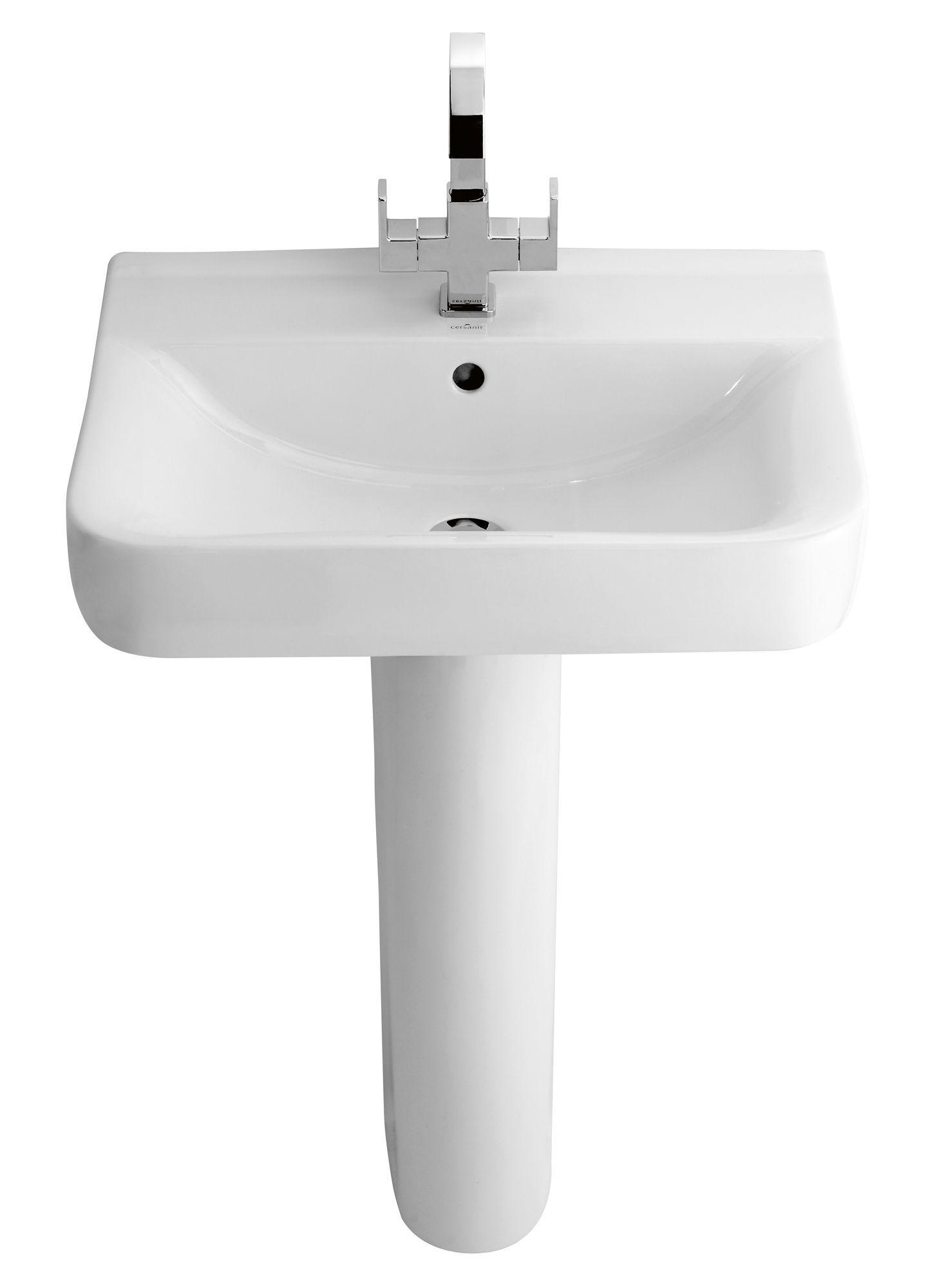 Bathroom Sinks B&Q Ireland cooke & lewis luciana full pedestal basin | departments | diy at b&q