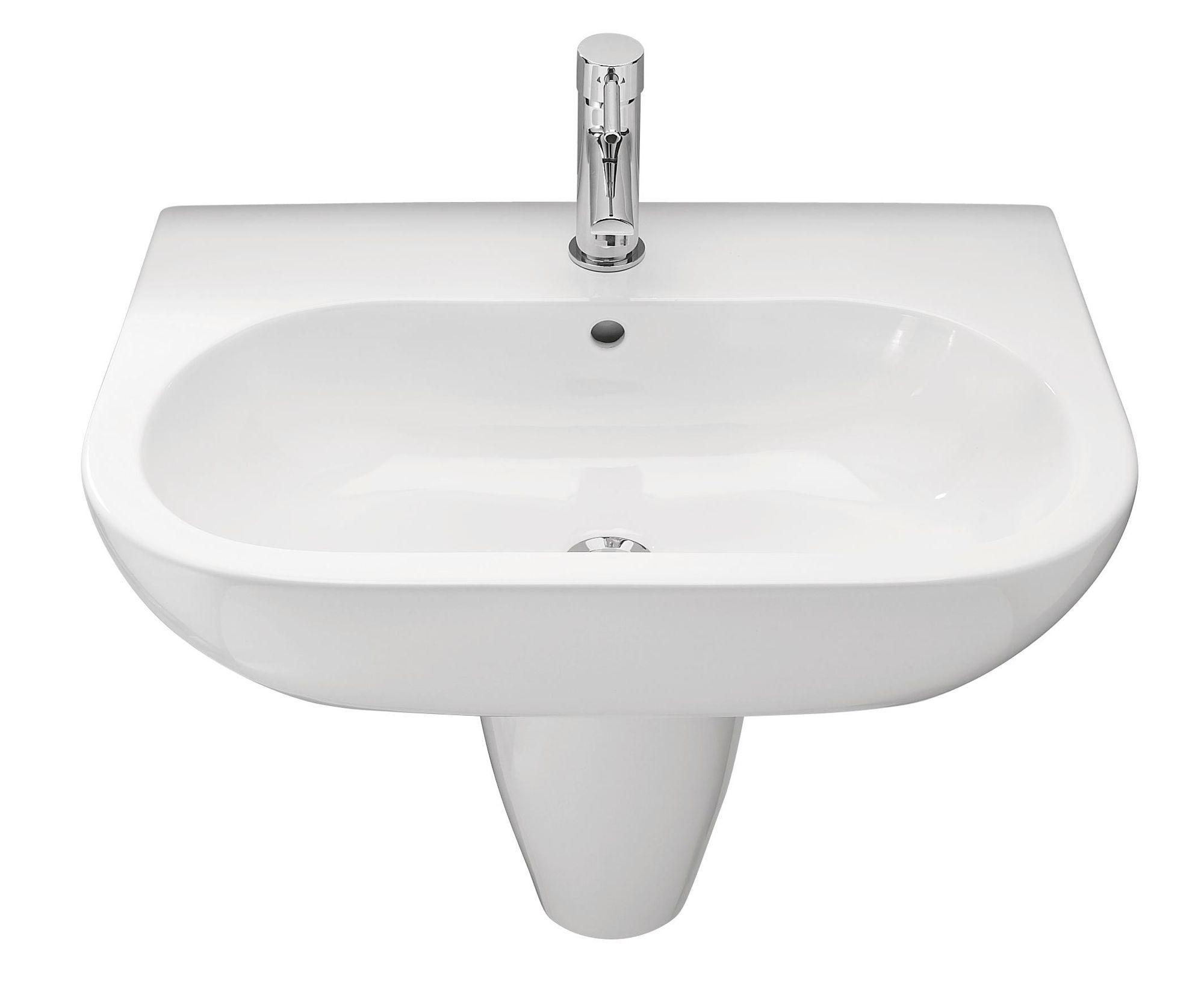 Bathroom Sinks B&Q Ireland cooke & lewis helena semi pedestal basin | departments | diy at b&q