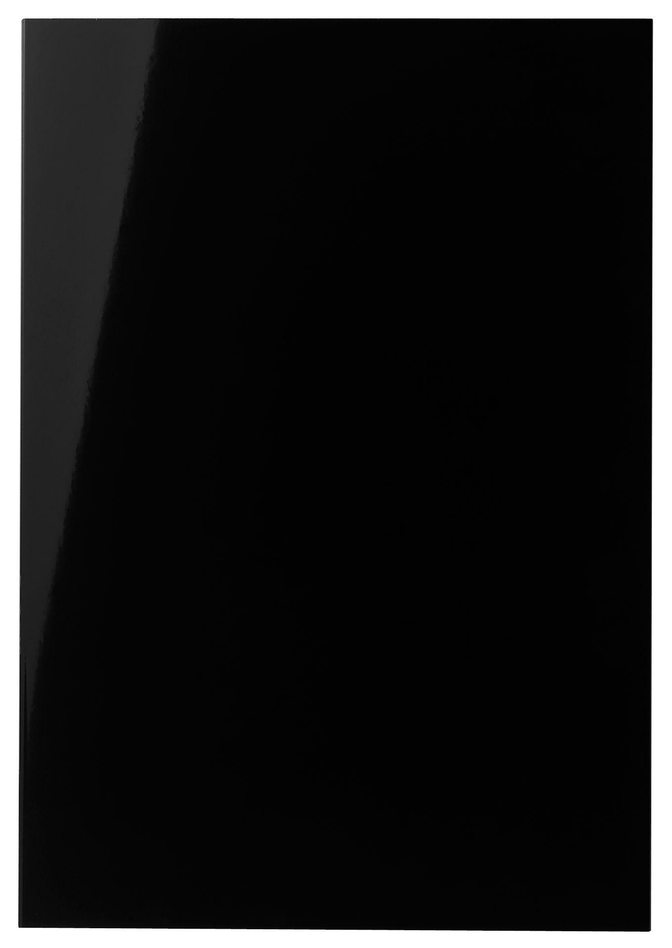 It Kitchens Santini Gloss Black Slab Standard Door (w)500mm