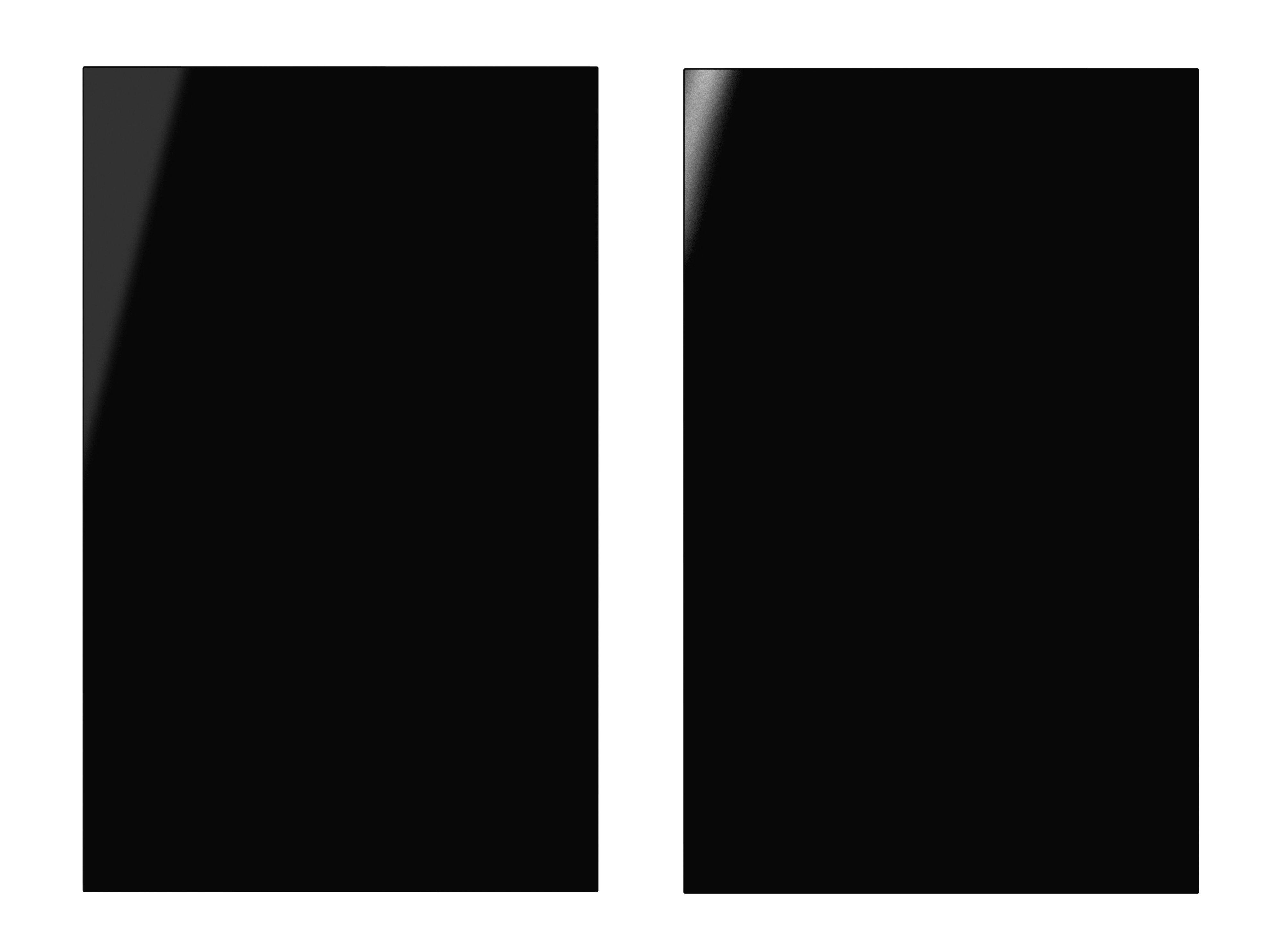 It Kitchens Santini Gloss Black Slab Larder Door (w)600mm, Set Of 2
