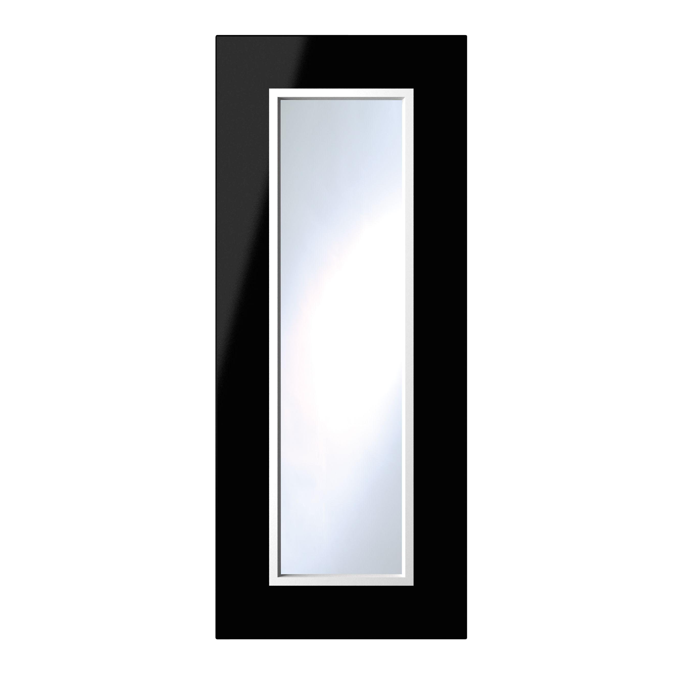 It Kitchens Santini Gloss Black Slab Glazed Door (w)300mm