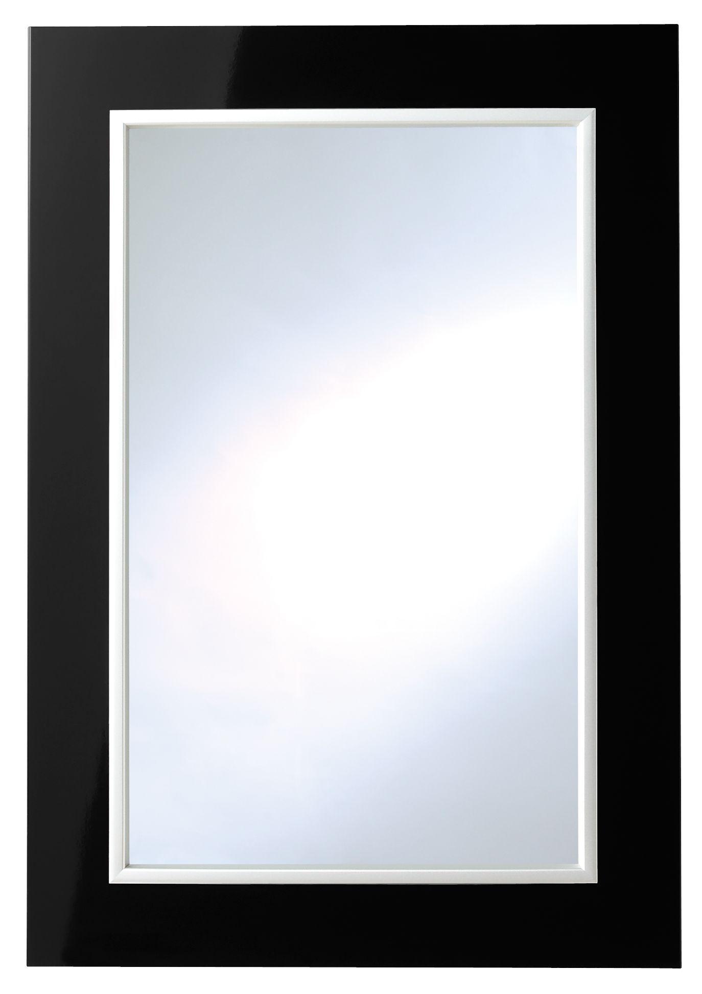 It Kitchens Santini Gloss Black Slab Glazed Door (w)500mm