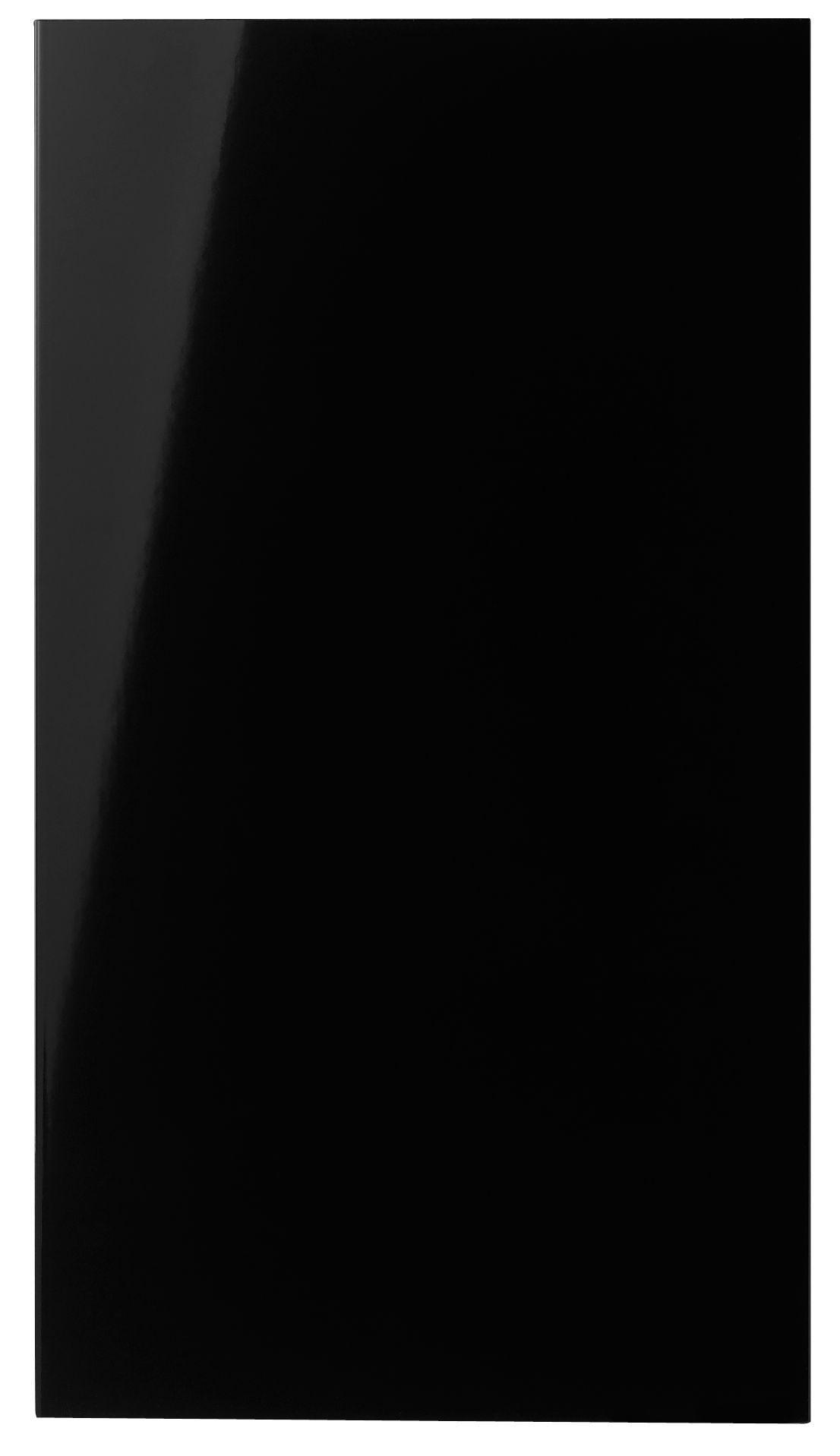 It Kitchens Santini Gloss Black Slab Standard Door (w)400mm