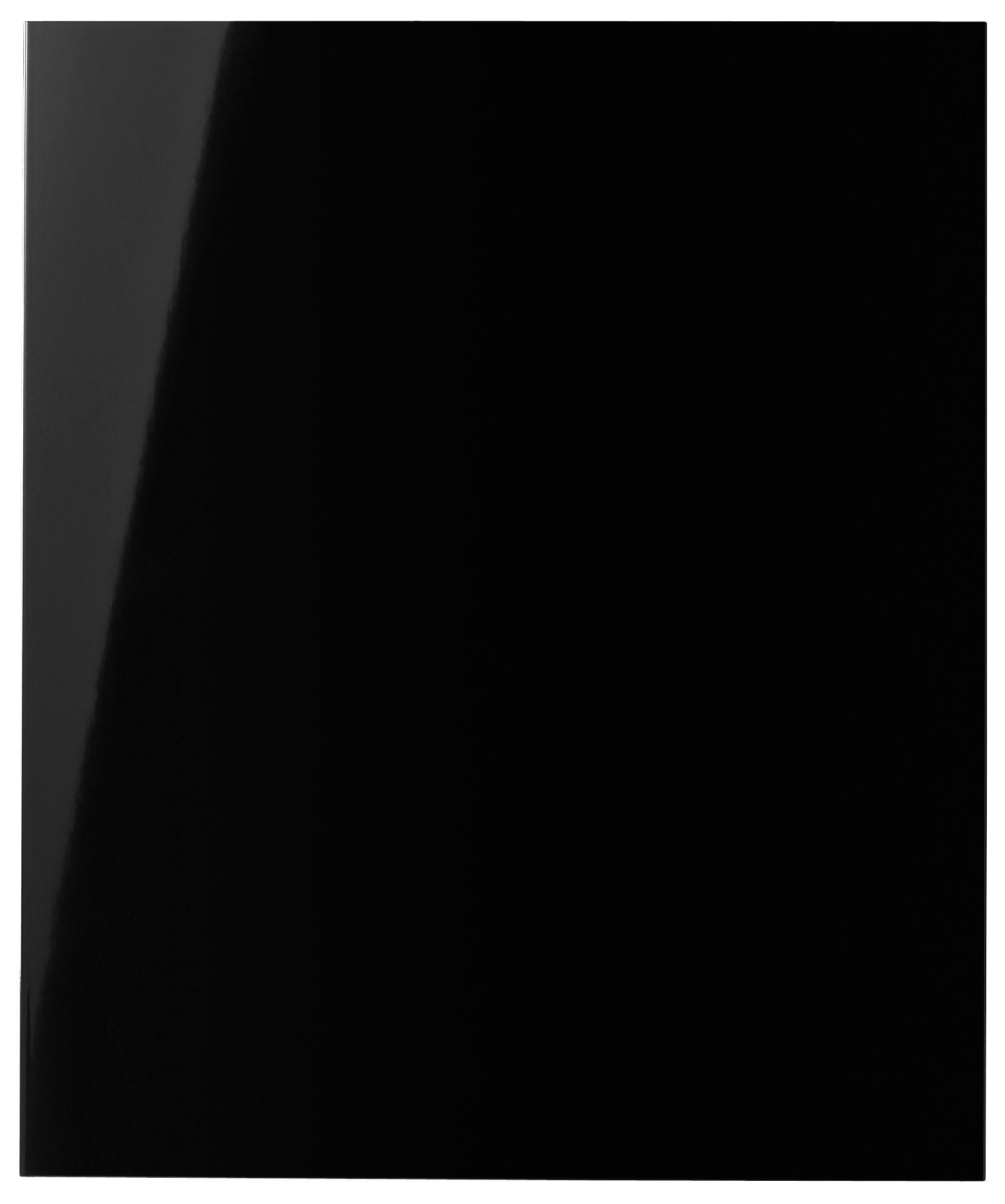 It Kitchens Santini Gloss Black Slab Standard Door (w)600mm