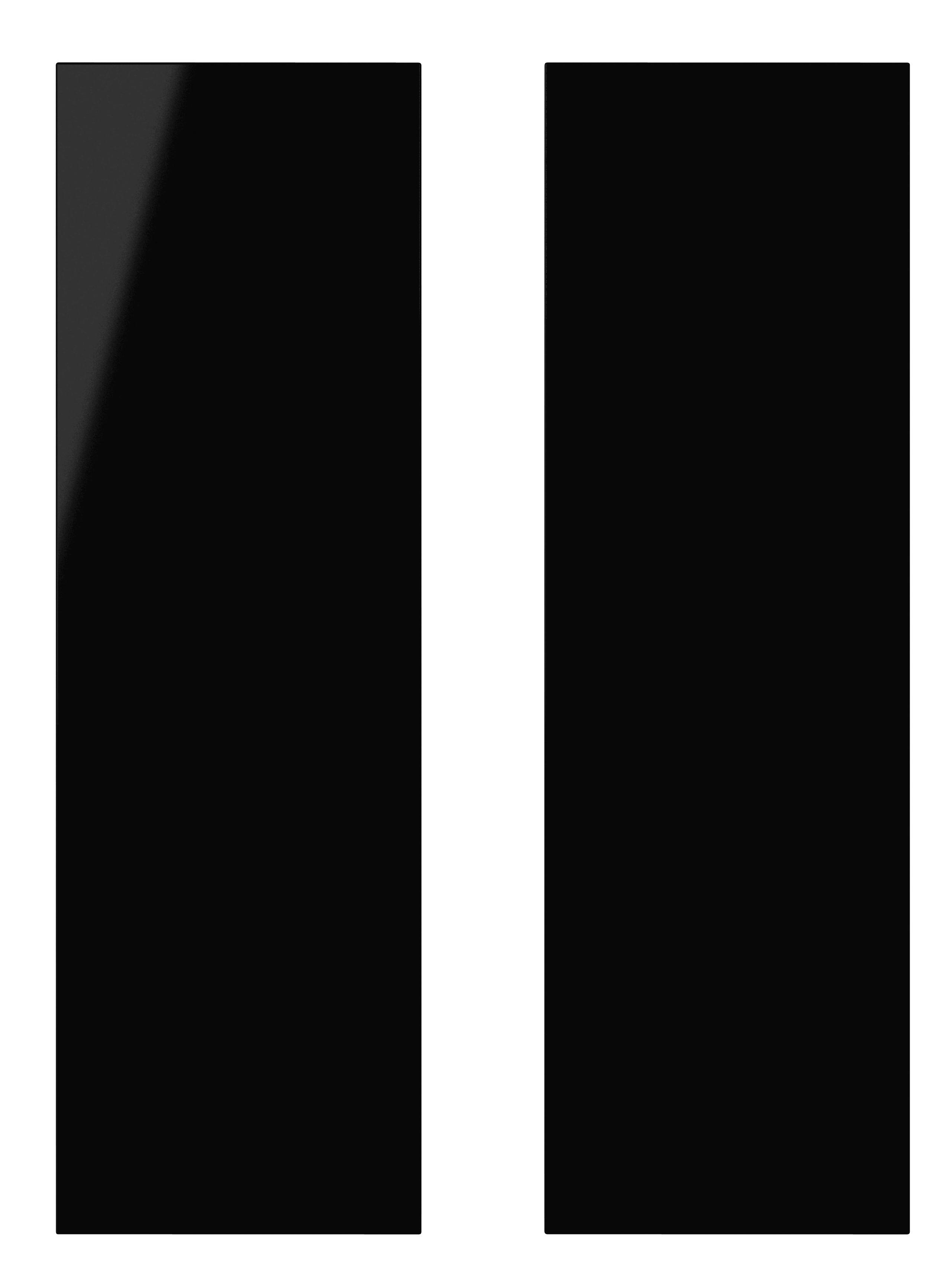 It Kitchens Santini Gloss Black Slab Larder Door (w)300mm, Set Of 2