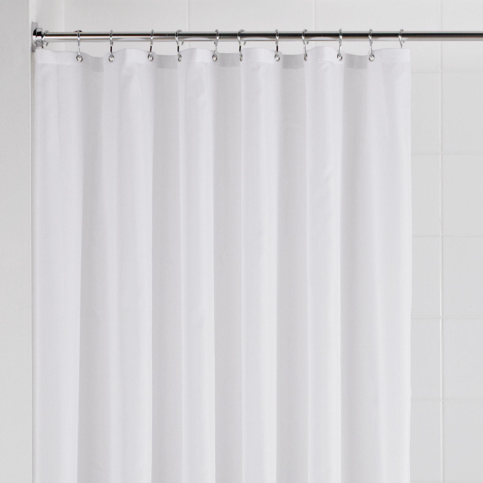 Value White Plain Shower Curtain (l)2.085 M