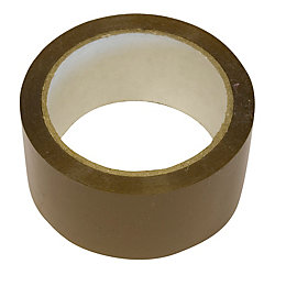 B&Q Brown Packaging Tape (L)50m (W)48mm