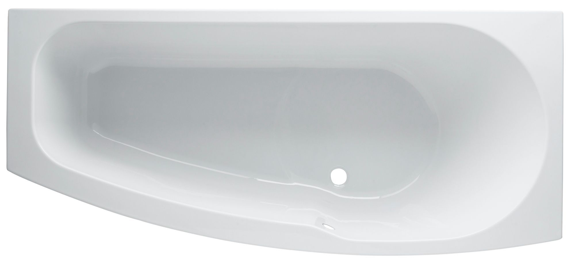 B and q cooke and lewis bathrooms - Cooke Lewis Perdita Rh Acrylic Pear Shower Bath L 1695mm W 750mm Departments Diy At B Q