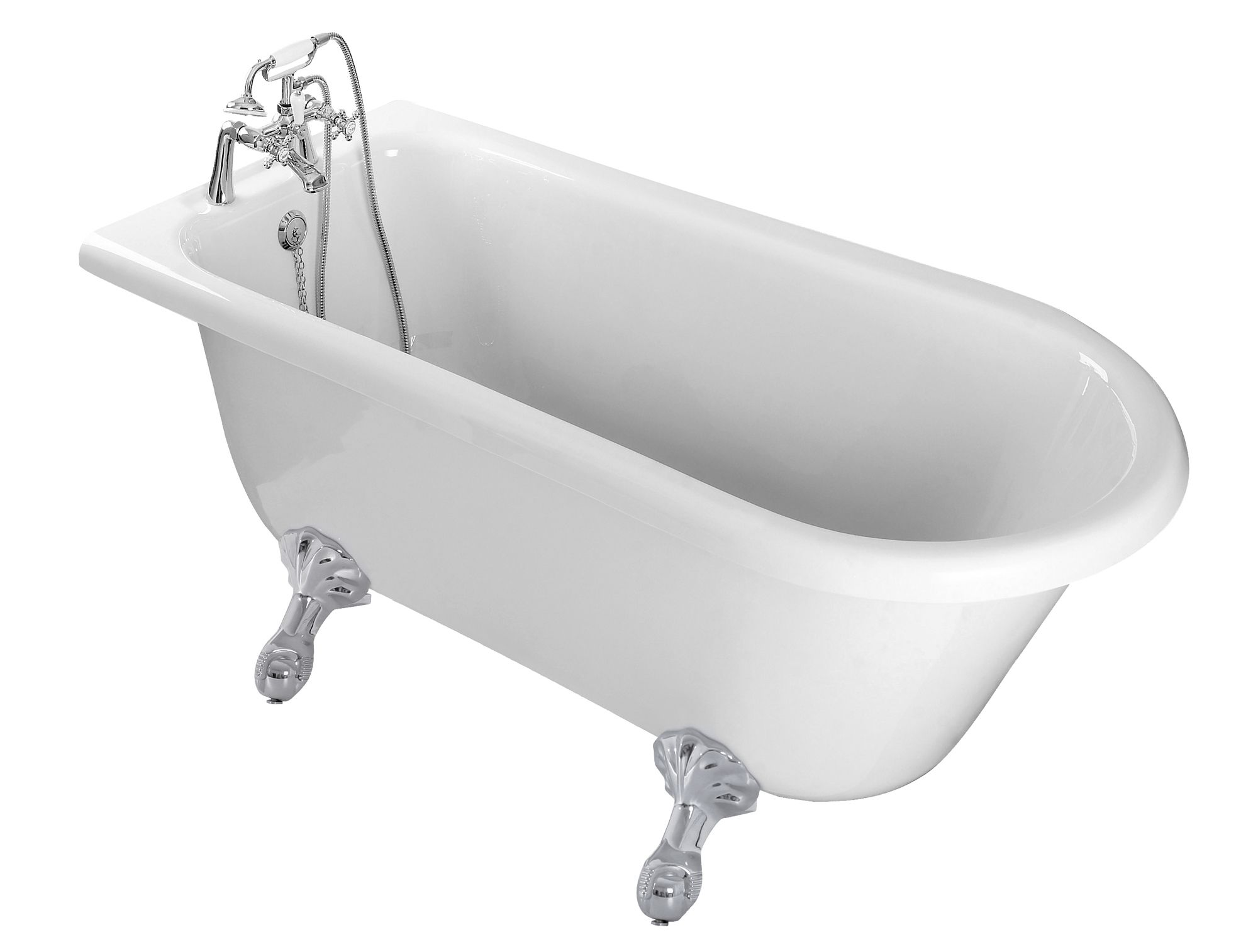 Cooke Amp Lewis Duchess Rh Acrylic Curved Freestanding Bath