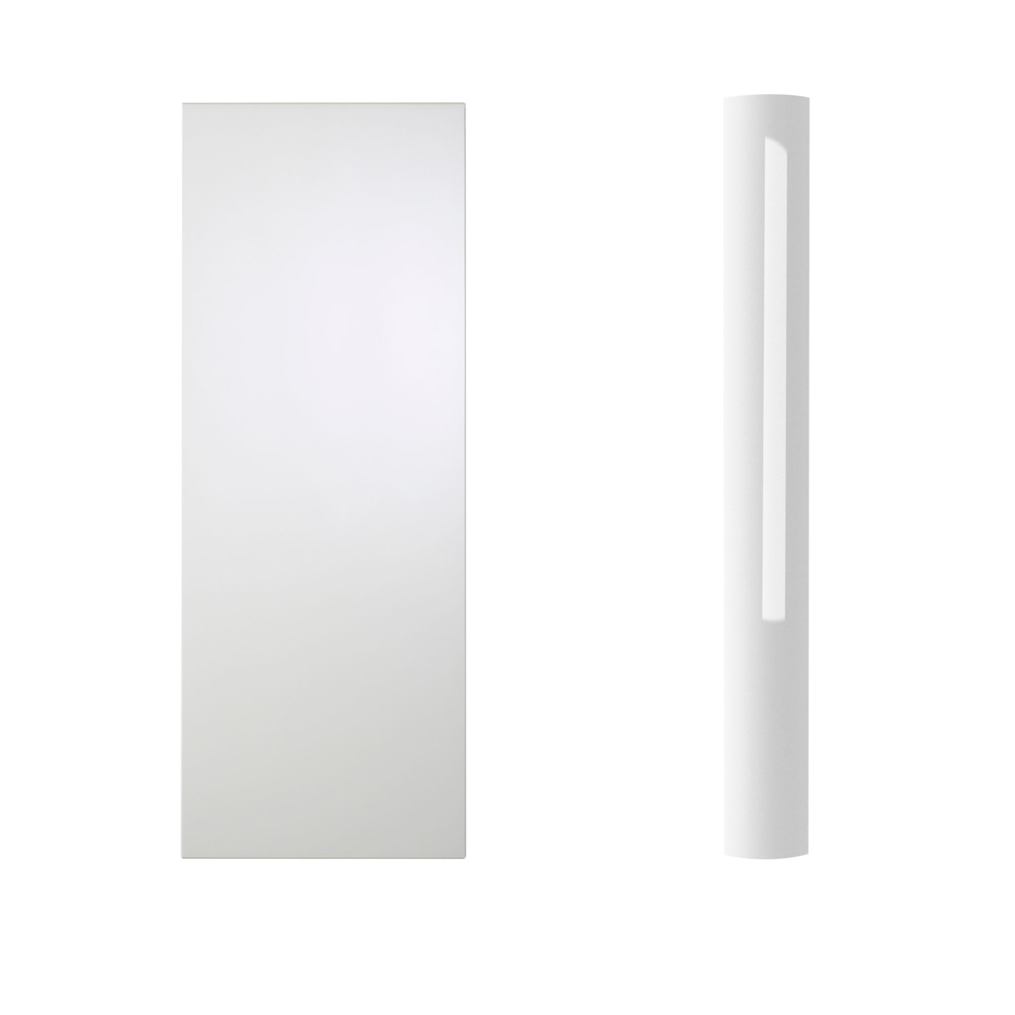 Cooke & Lewis High Gloss White Curved Tall Wall Pilaster & Panel (h)937mm (w)70mm (d)355mm