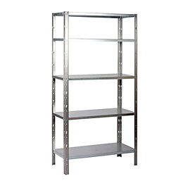 B&Q Select 5 Shelf Metal & Timber Shelving