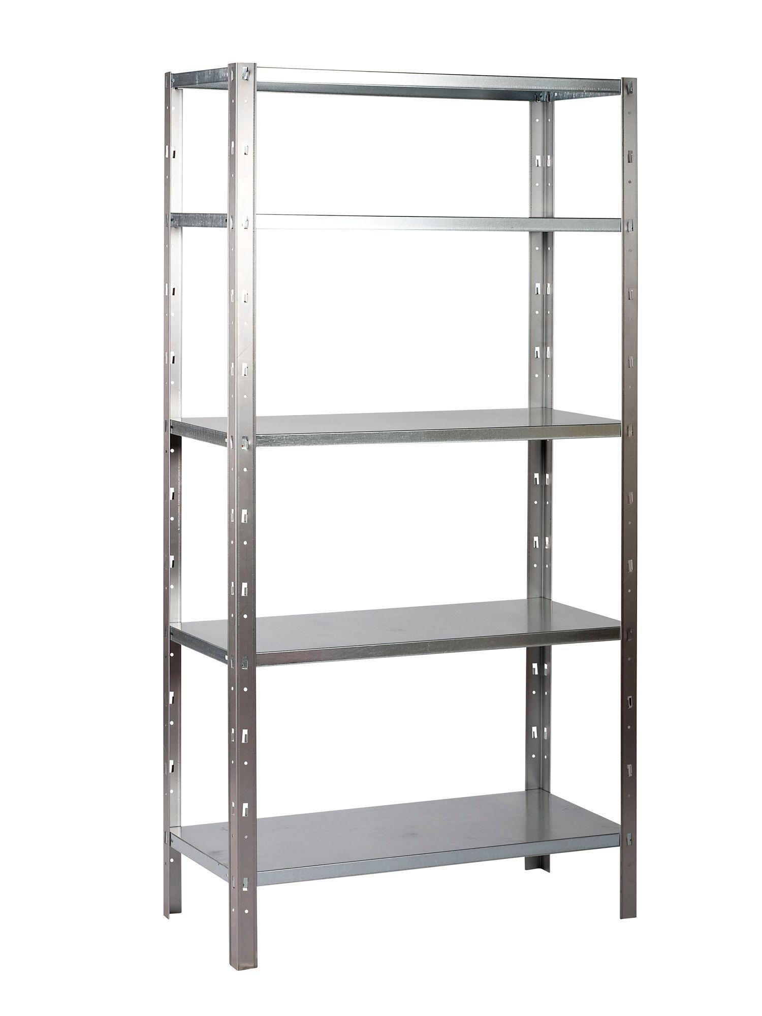 b q 5 shelf steel shelving unit departments diy at b q. Black Bedroom Furniture Sets. Home Design Ideas