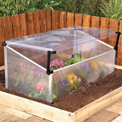 B&Q 6X8 Polycarbonate Cold Frame & Mini Greenhouse