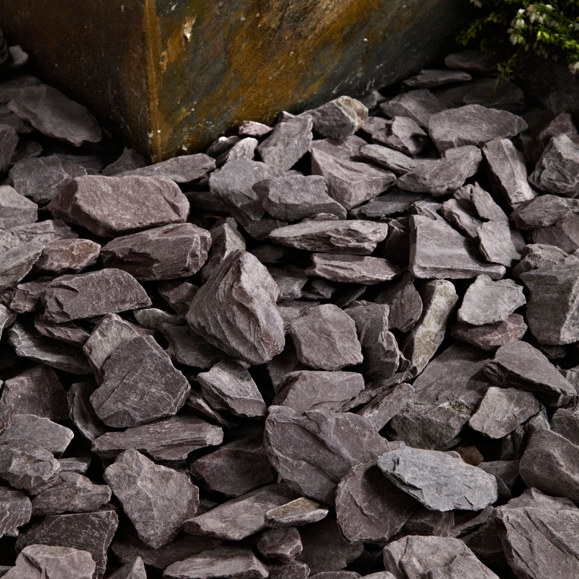 Blooma plum decorative slate departments diy at b q for Large outdoor decorative rocks