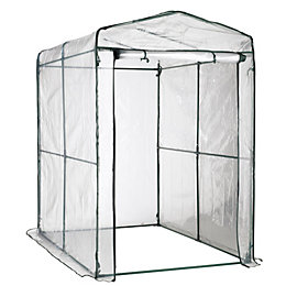B&Q Plastic Walk-In Greenhouse