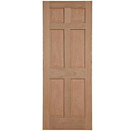 6 Panel Oak Veneer Internal Fire Door, (H)1981mm