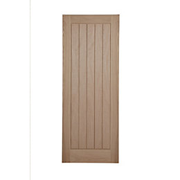 Cottage Panel Oak Veneer Unglazed Internal Fire Door,