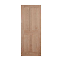 4 Panel Flush Oak Veneer Internal Unglazed Door,