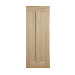 Vertical 2 Panel Clear Pine Internal Unglazed Door,