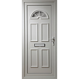 Carolina White PVCu Glazed External Front Door &