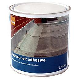 B&Q Black Roofing Felt Adhesive 2.5L