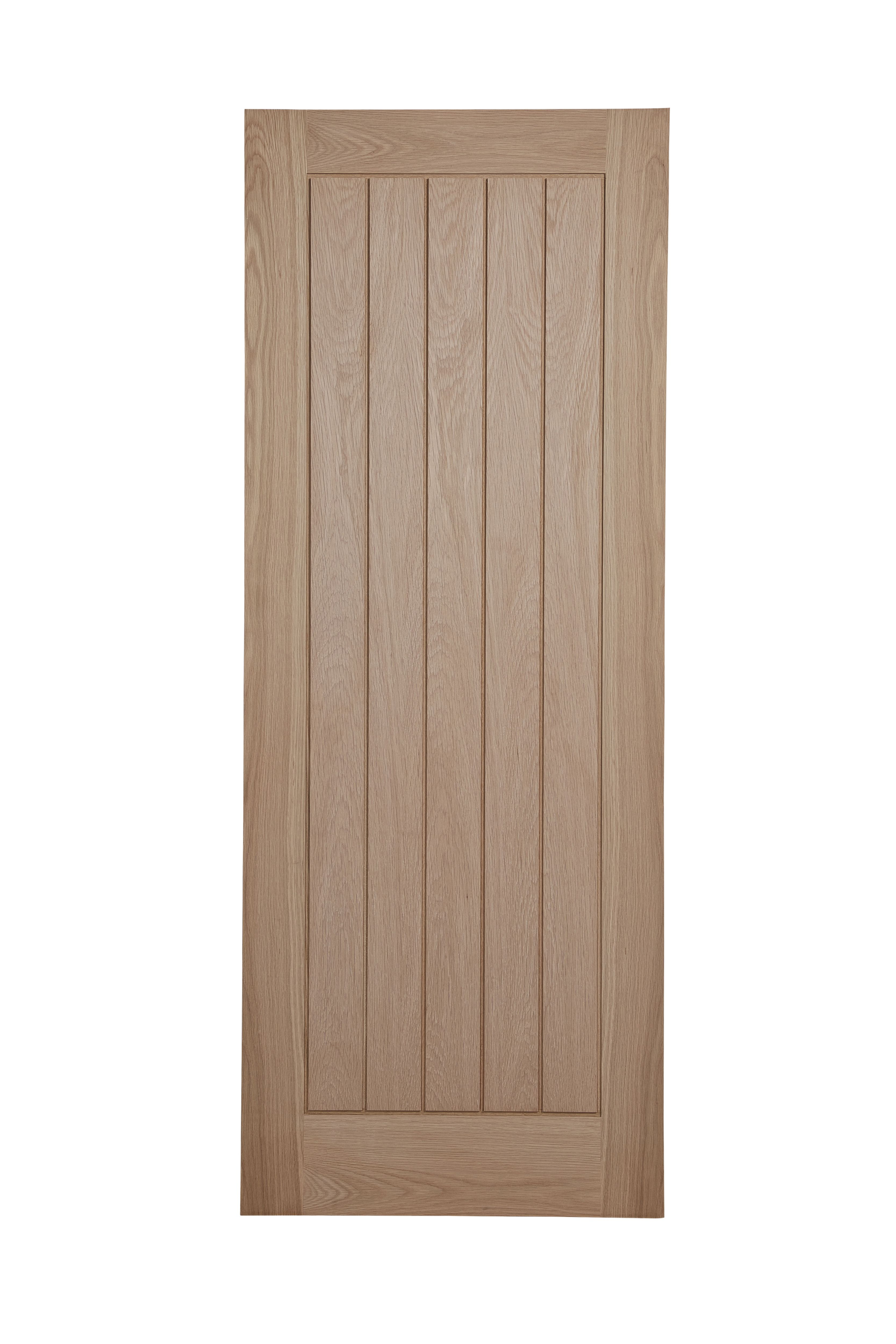 Cottage Framed Ledged And Braced Oak Veneer Unglazed Internal Standard Door, (h)1981mm (w)838mm