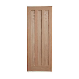 Vertical 3 Panel Oak Veneer Internal Unglazed Door,