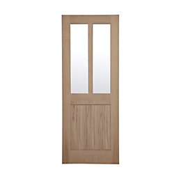 Cottage Panelled Oak Veneer Glazed Internal Door, (H)1981mm