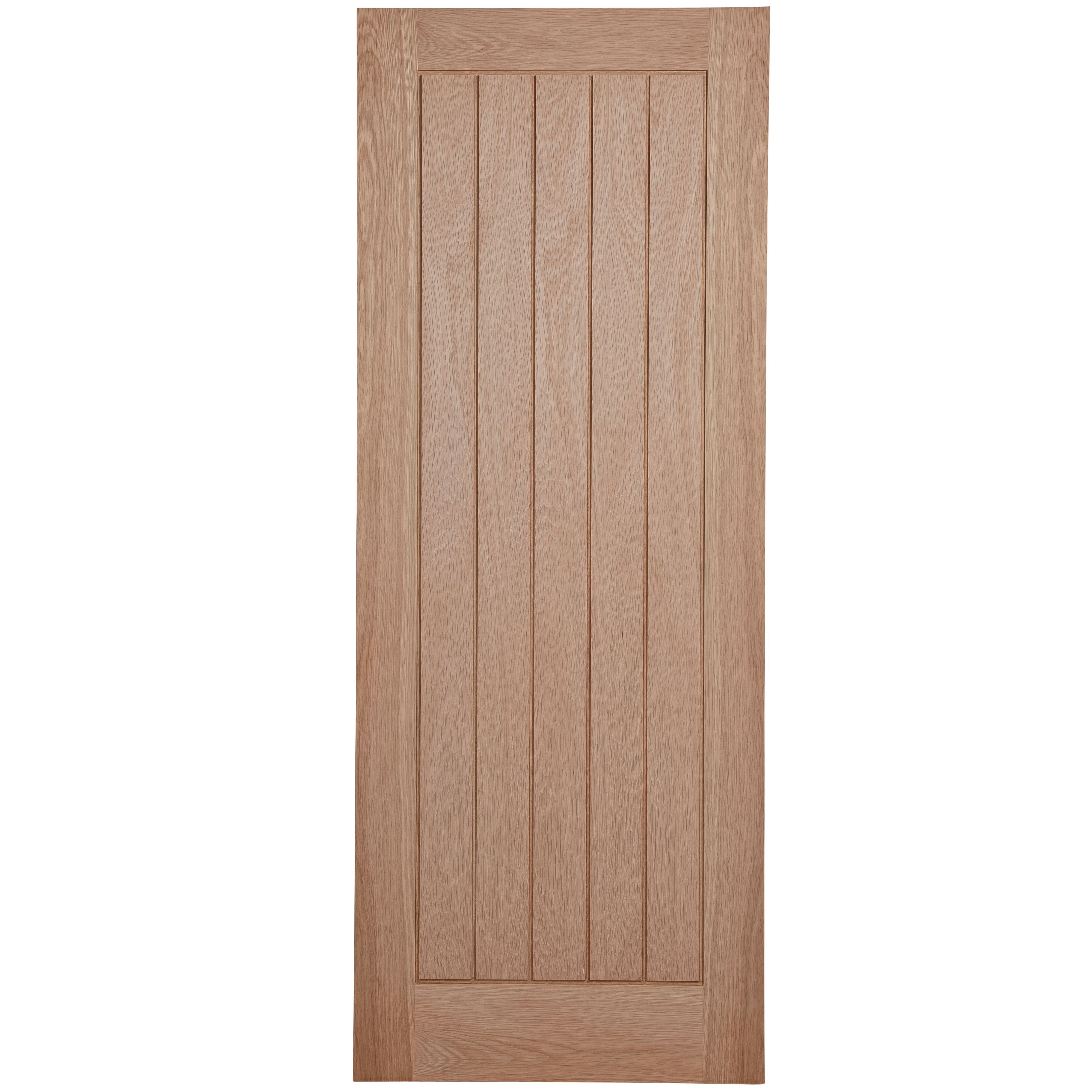 Cottage Panel Oak Veneer Unglazed Internal Standard Door, (h)1981mm (w)762mm